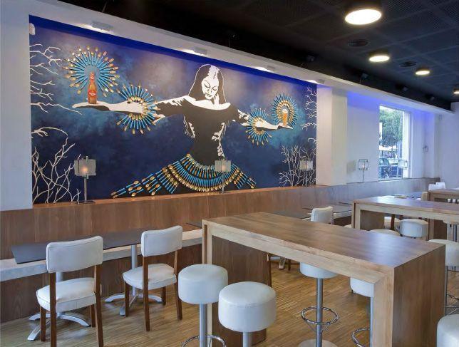 Murales para restaurantes murales divinos for Murales decorativos para interiores